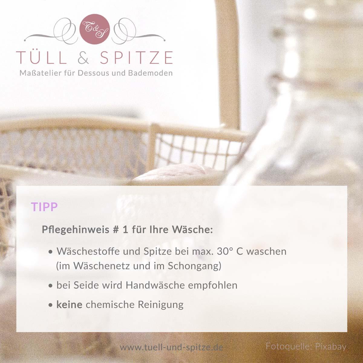 Tipps - Pflegehinweis Waschen