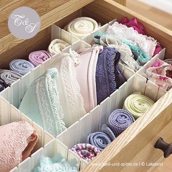 Wäscheschublade mit Unterteilung