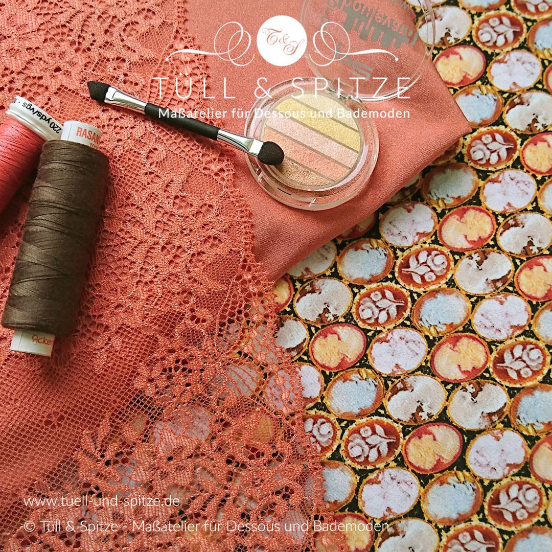 Wäschestoff orange / Herbstfarben