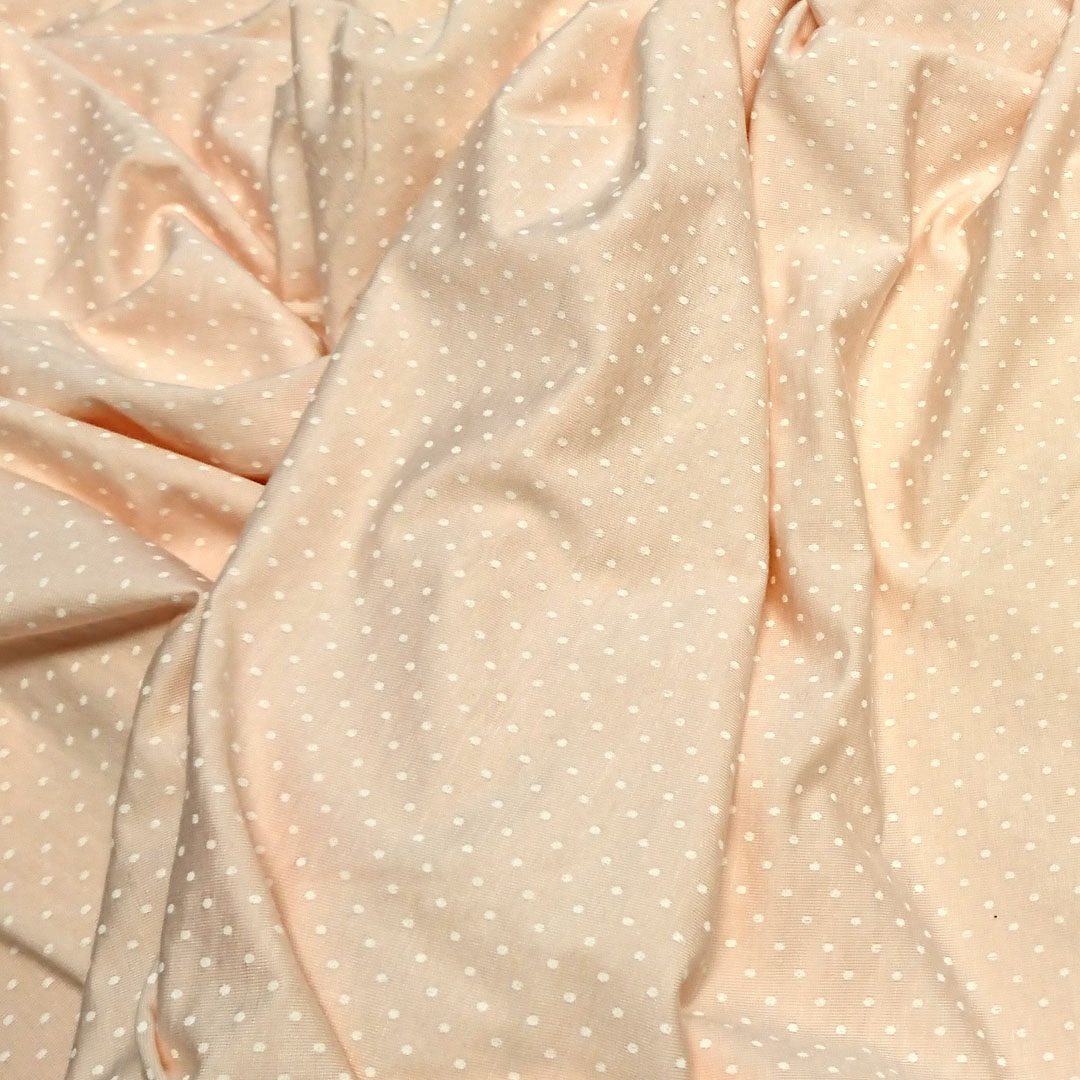 Baumwolljersey Apricot mit hellen Punkten