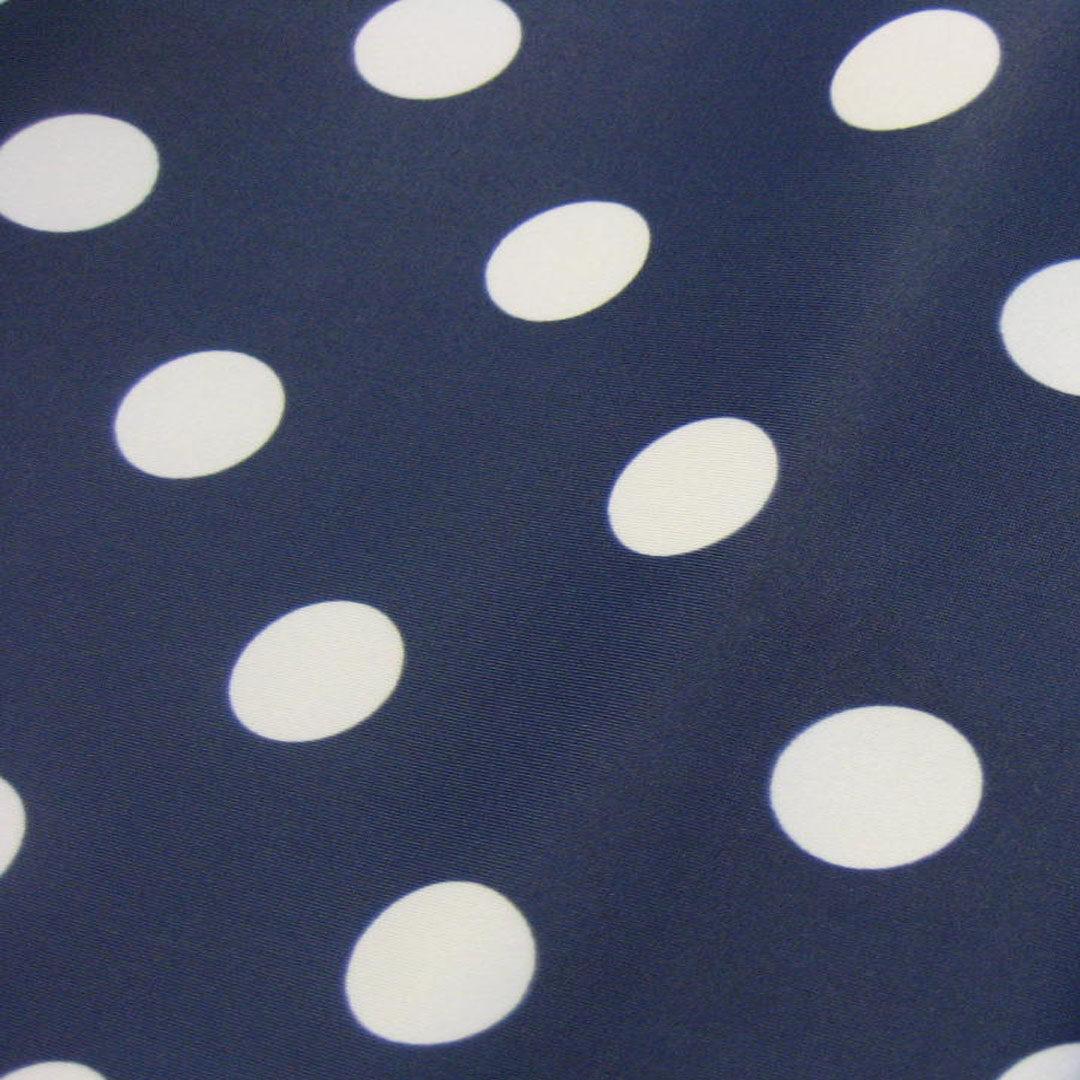 Badestoff Marineblau mit weißen Punkten