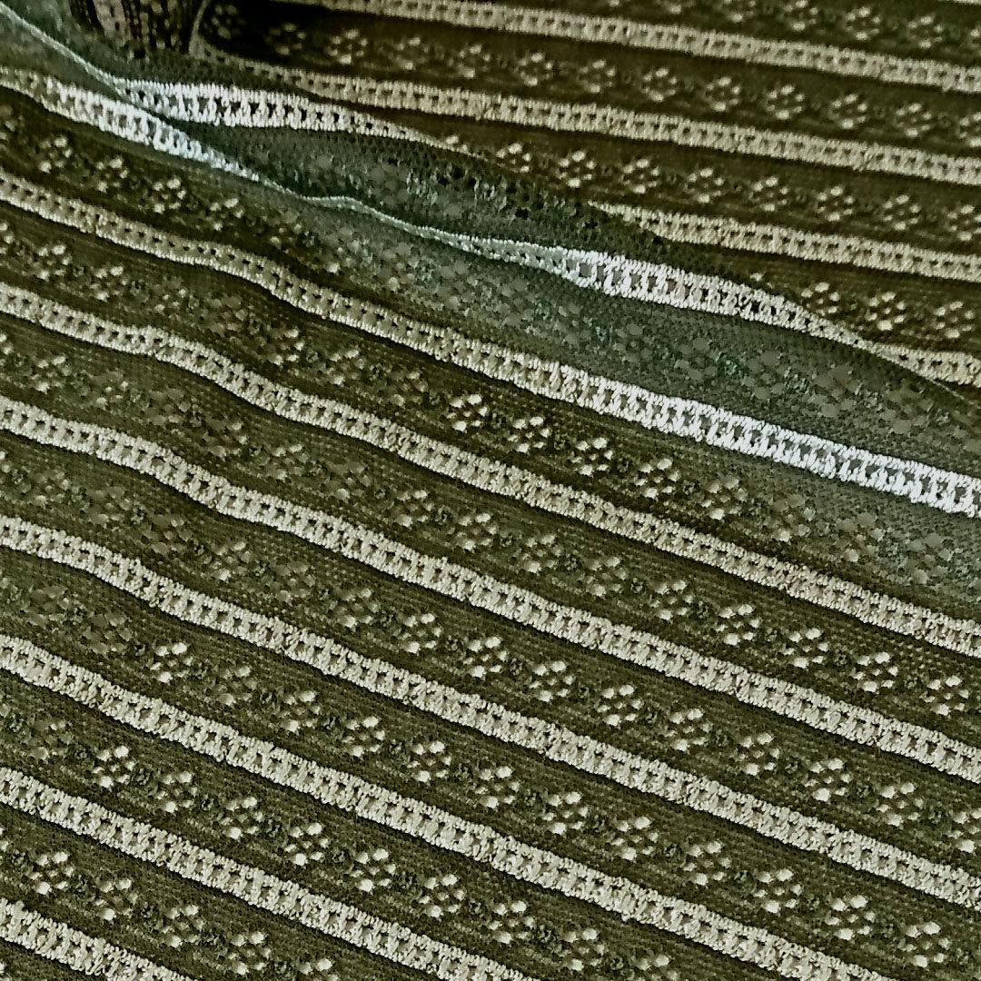 Mikrofaser Moosgrün mit Lochmuster