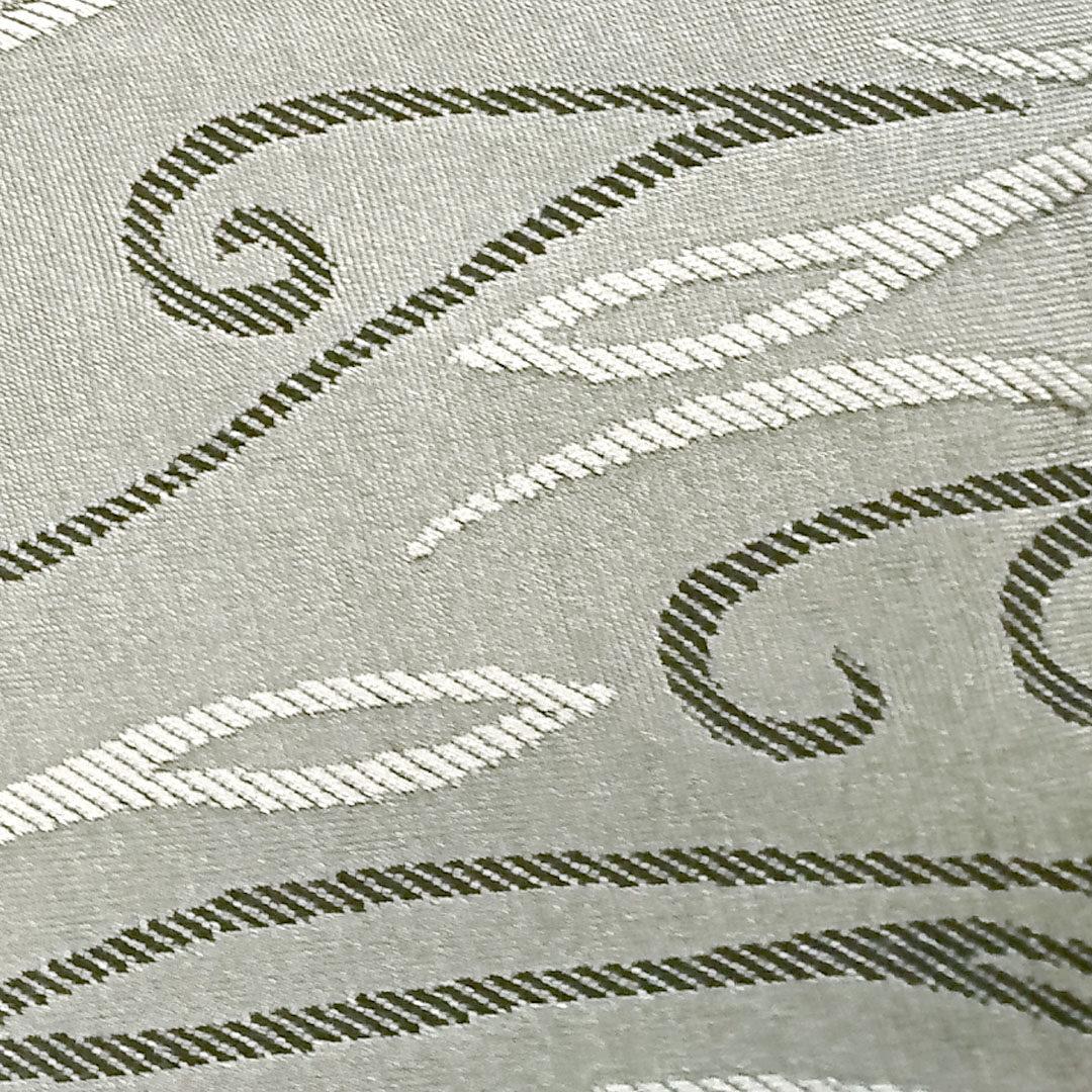 Mikrofaser Silbergrau mit Ornamenten (Zoom)