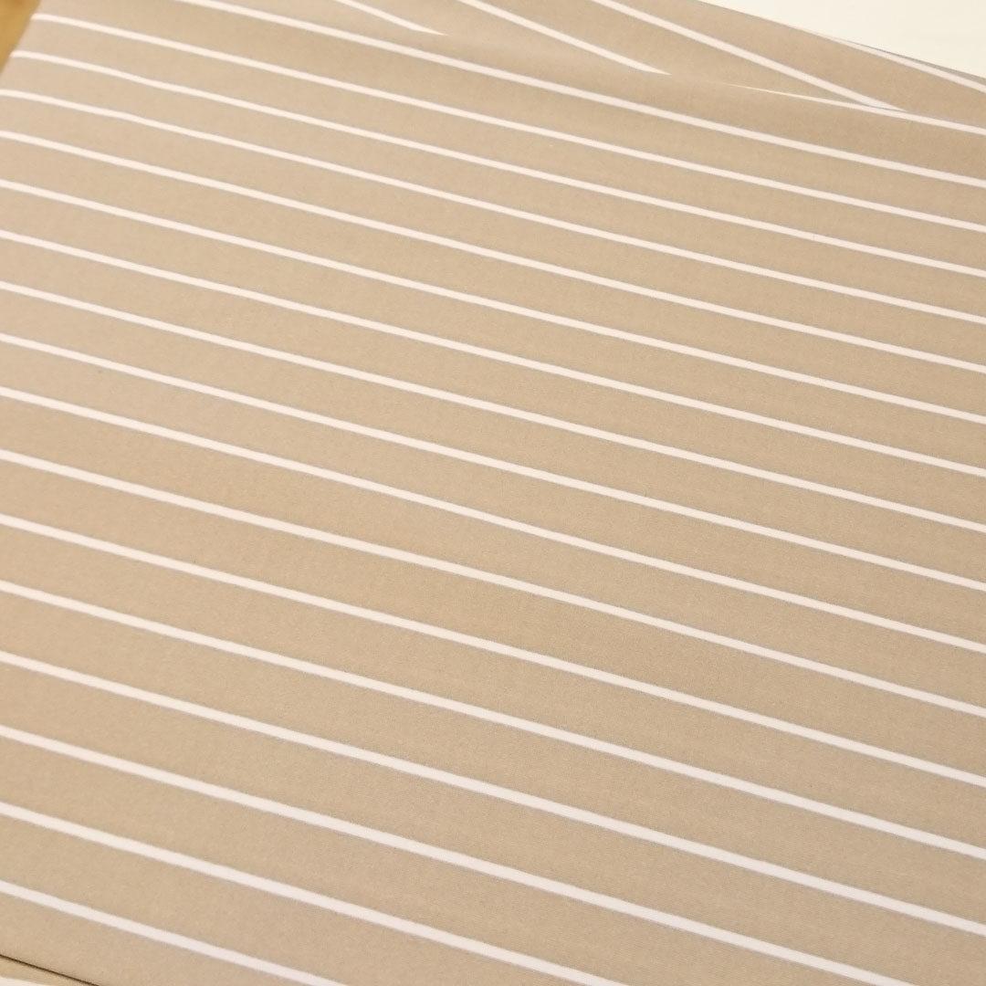 Mikrofaser Nougat/Haut mit hellen Streifen