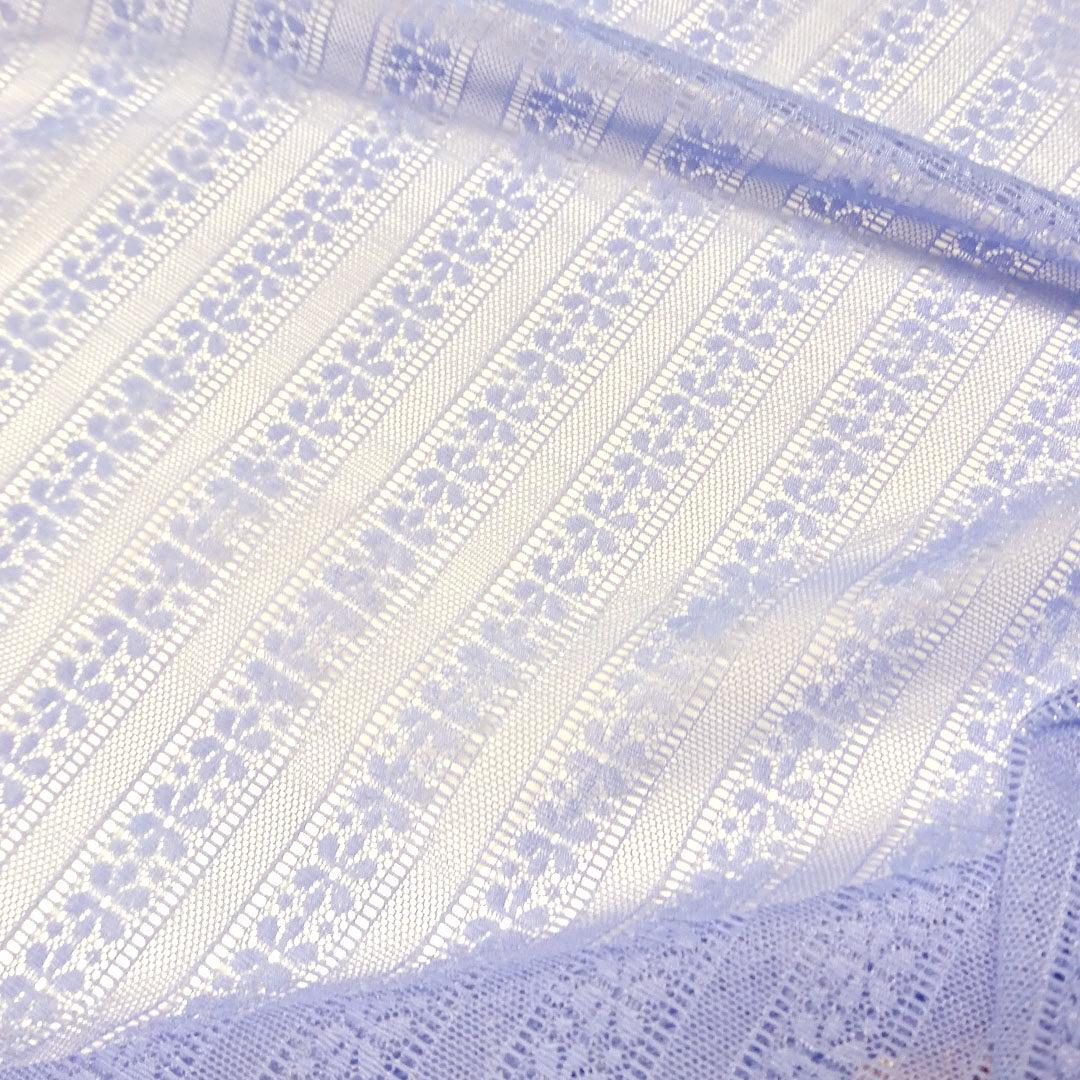 Wäschetüll Lavendel gemustert (Detailansicht)