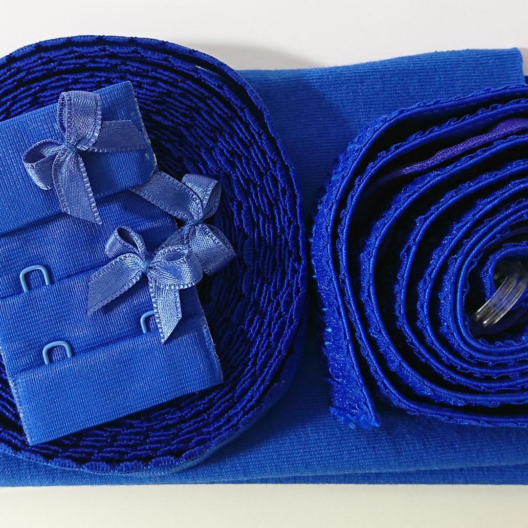 Shop   Kurzwarenpaket Dessousset Royalblau/Gr. M bis L, € 12,-