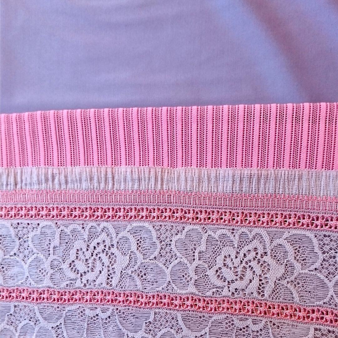 Shop | Materialpaket Dessousset, Pink/Lavendel