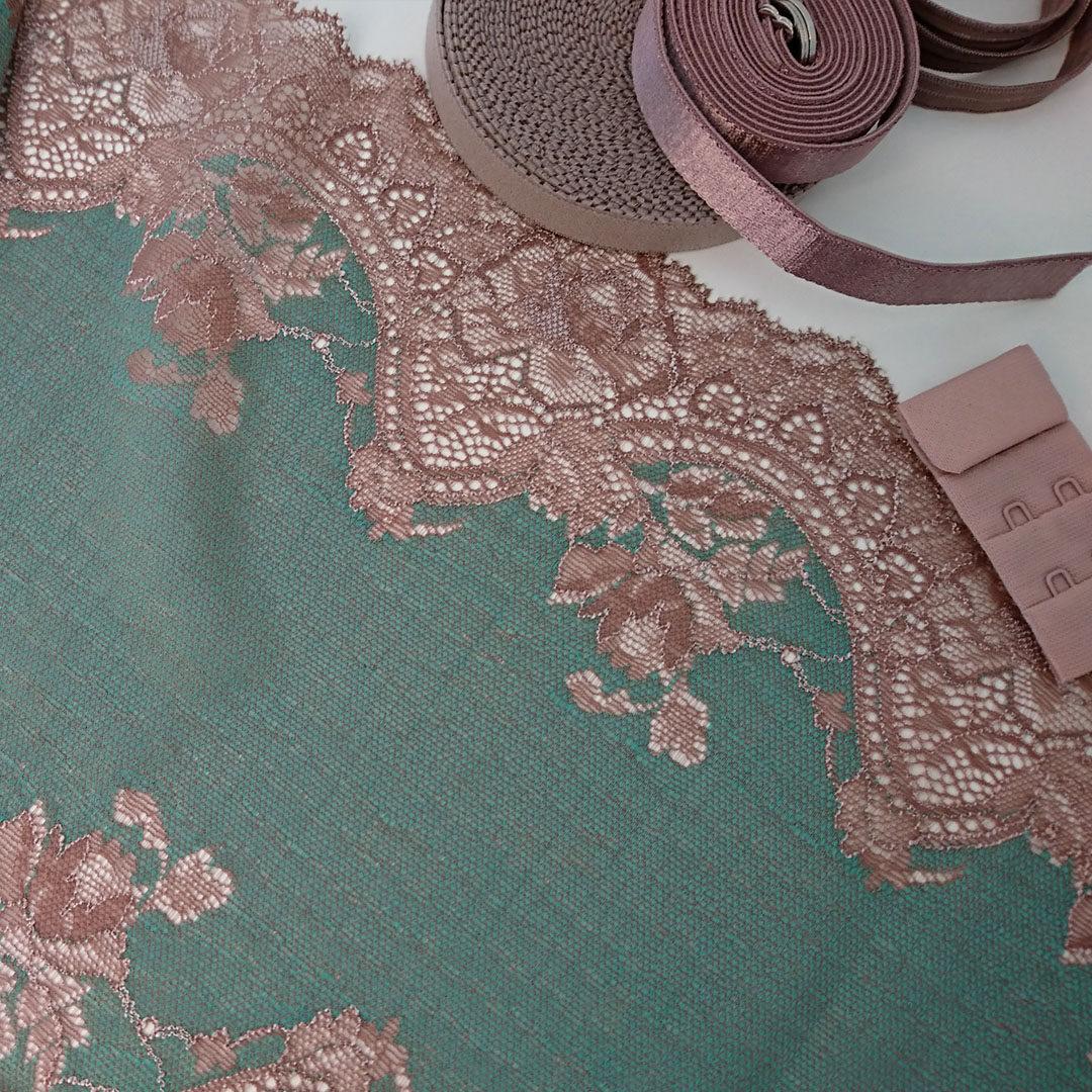 Shop | Materialpaket Dessousset, Grün/Nougat