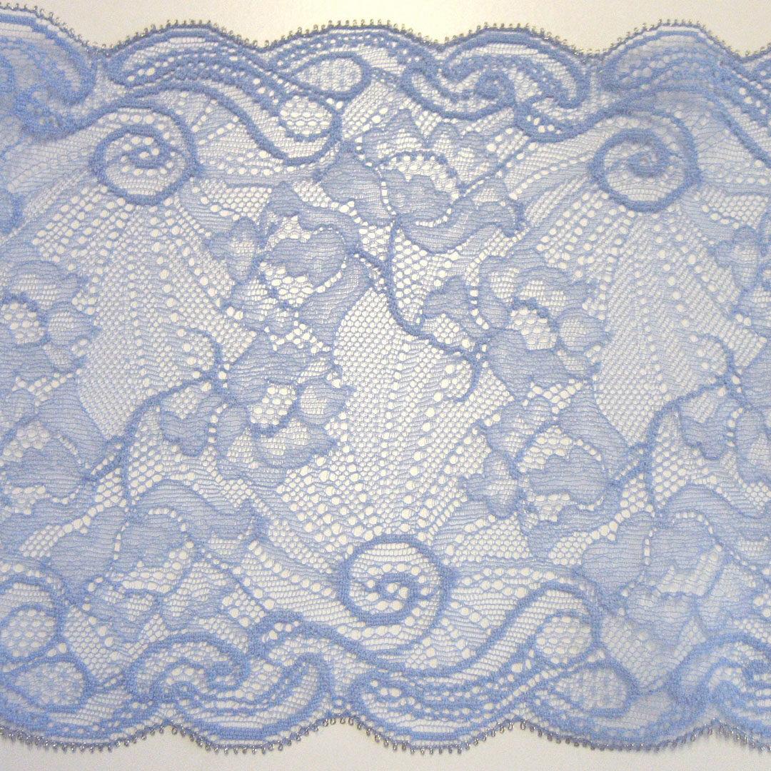 Shop   Spitze Bleu mit Silberrand