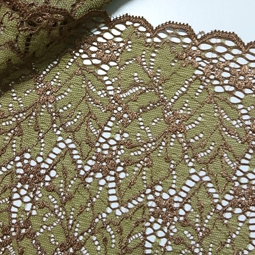 Shop | Spitze, Olive/Braun/Blätter (Chanty Lace)