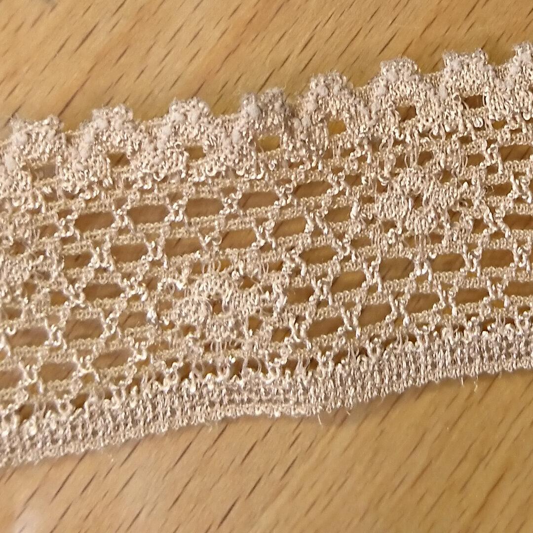 Shop   Spitzenborte nougatnude, 2,5 cm breit