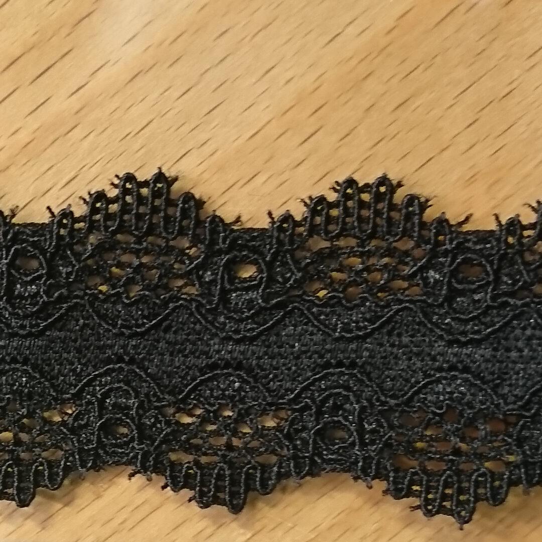 Shop   Spitzenborte schwarz, 3 cm breit