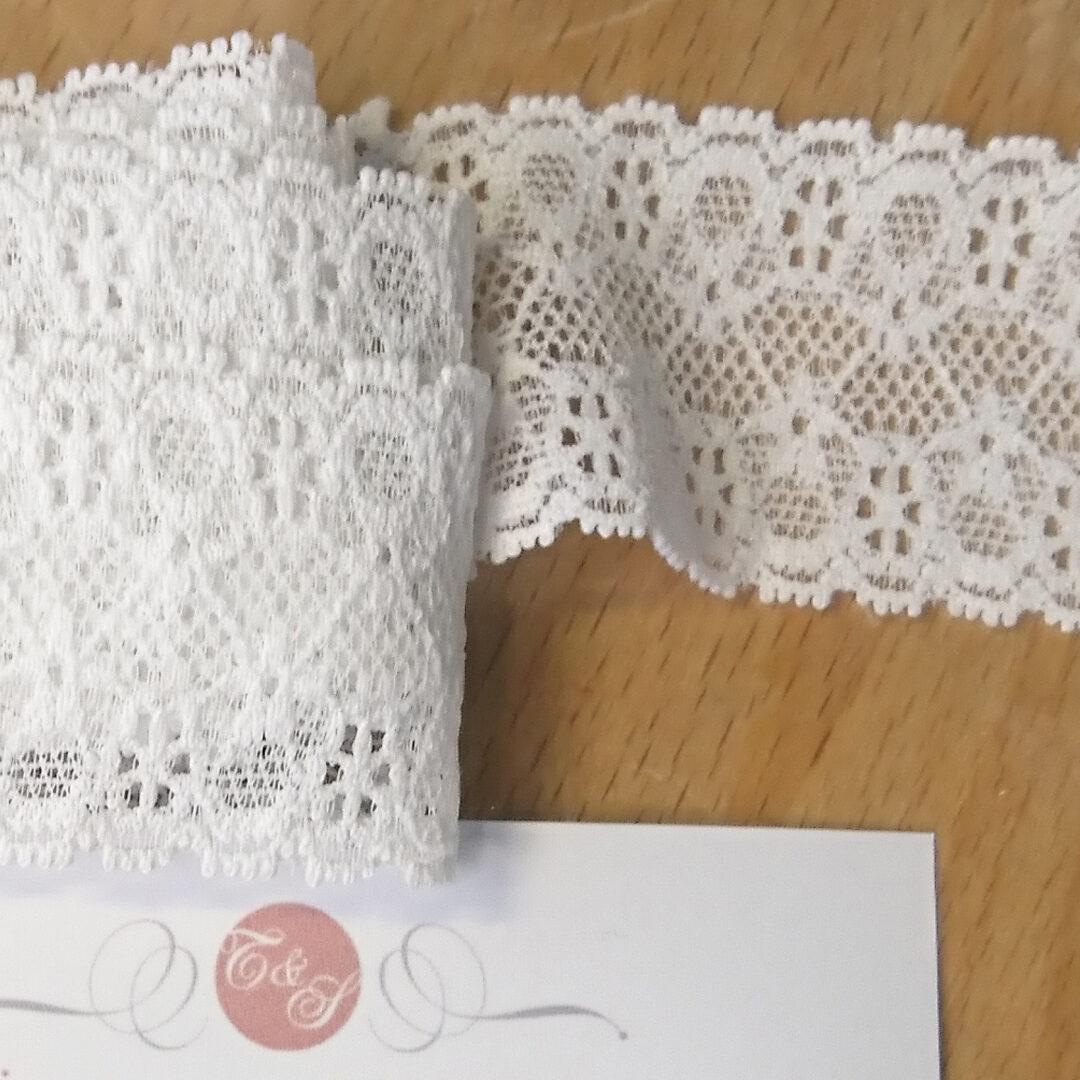 Shop   Spitzenborte weiß, 3 cm breit