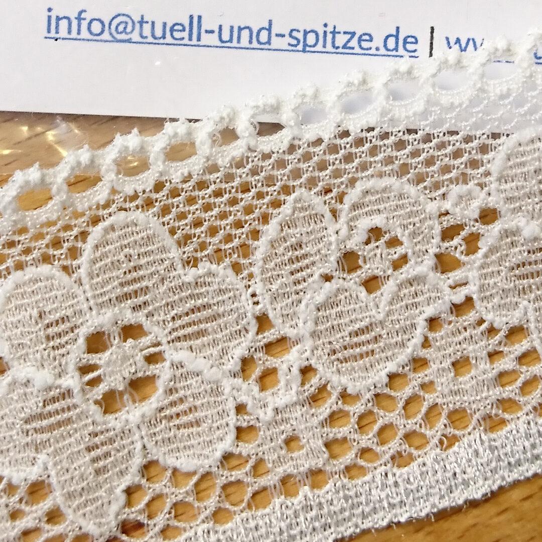 Shop   Spitzenborte Elfenbein, 3,5 cm breit